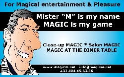 "Afbeelding › Magician entertainer Mister ""M"""